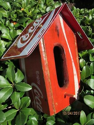 Old Original Coca Cola Crate Birdhouse
