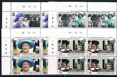 Ascension 1999 Queens Mothers Century PLATE BLOCKS SG781/4 MNH