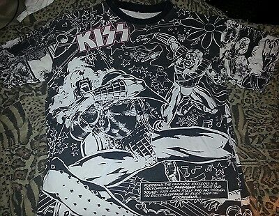 2af4142a VINTAGE KISS SHIRT 1995 Glow In The Dark XL 90s - $49.99 | PicClick