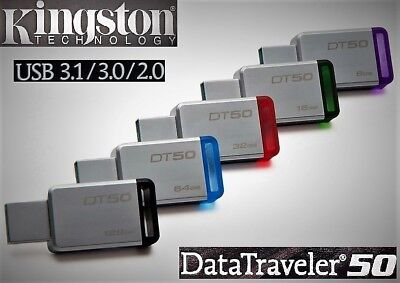 Kingston DataTraveler DT50 USB 3.0/3.1 Stick 8GB 16GB 32GB 64GB 128GB USB Stick