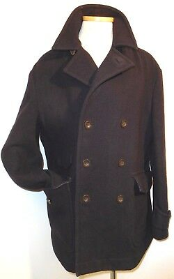 d5420e010f4 Timberland Vintage Men s Navy Blue Wool Blend Button Front Peacoat ...