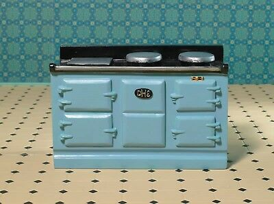 Dolls House Miniature 1/12th Scale Emporium Light Blue Aga-style Stove 8096