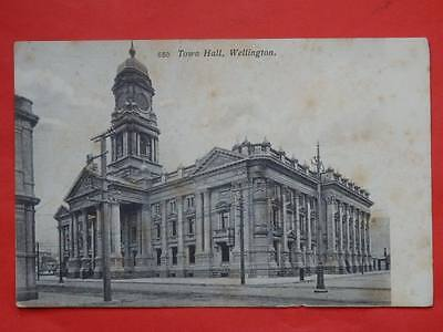 NEW ZEALAND Wellington Town Hall old postcard