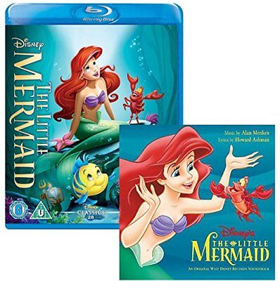 The Little Mermaid - Walt Disney Movie and Soundtrack Bundling - Blu-ray and CD