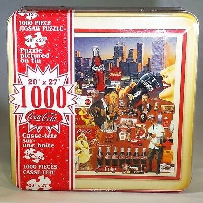 "Always Coca-Cola 1000 PC Tin Metal Box Jigsaw Puzzle 20""x27"" Sealed  Official"