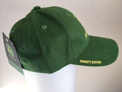 """JOHN DEERE Official Green Twill """"Owner's Edition"""" Hat - Brand New with Tag"""
