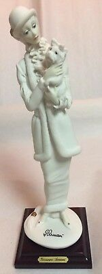 Two (2) 1987 Giuseppe Armani Figurines, Lady W/yorkie & Lady W/necklace