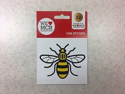 Manchester Bee Sticker Car, Van, All Profits To Relief Fund Stocking Filler