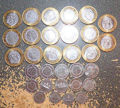 Cambodia BE 2538 (1994), Dealer Lot of 31 XF/AU Coins, w/ Bimetal, 1 Year Types