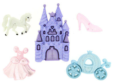 Happily Ever After Carriage Castle Unicorn Girls Shank Buttons *New*