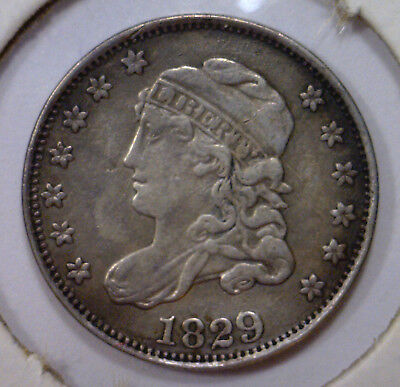 1829 Capped Bust Silver Half Dime H10c ~ EF Extra Fine XF