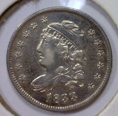 1833 Capped Bust Silver Half Dime H10c ~ EF Extra Fine XF