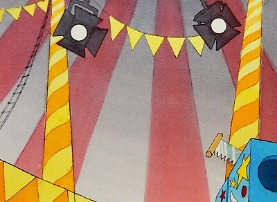 Hand Painted WATERCOLOR - VINTAGE Production Animation Background