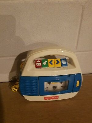 Vintage Fisher Price Tape Recorder Cassette Player Microphone #3800