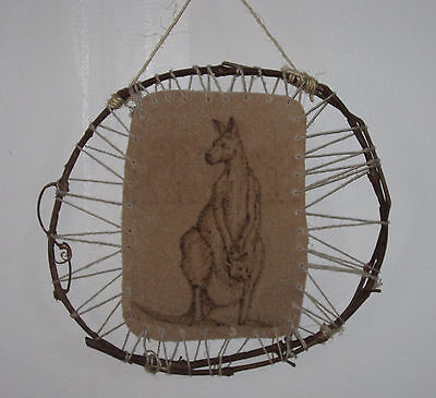 Kangaroo Leather Burning Wall hanging original etching craft home decor nature