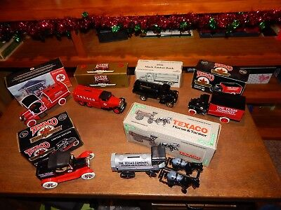 Texaco collectible die cast tanker truck banks - Excellent Condition, lot of 6!