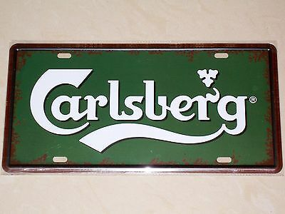 Carlsberg Beer Denmark - Novelty Metal Number Plate / Sign - Bar - Garage