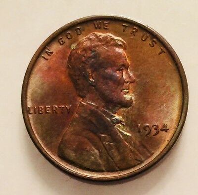 1934-P Lincoln Cent RB BU Red and Brown Uncirculated (UNC)