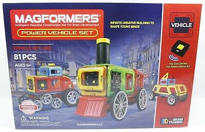 Magformers Power Vehicle Construction Set 81 Pieces - NEW - Fast Free Shipping