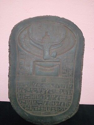 STELA RARE ANTIQUE ANCIENT Egyptian Statue Pharaoh Isis 380-362 Bc