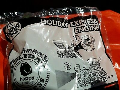 """McDonalds Happy Meal Toy Holiday Express """"HOLIDAY EXPRESS ENGINE"""" TRAIN CAR NEW"""