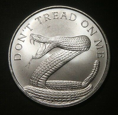 2016 Don't Tread On Me Silver Shield Round 1 Ozt .999 Pure Silver  Lot 161007