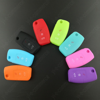 Silicone Key Holder Case Cover Fit For  Ford Fiesta Focus C S Max Kuga Mondeo