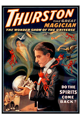 MAGIC POSTER HOWARD Thurston-Thurston the great magician-With the