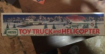 HESS Toy Truck & Helicopter 1995 NEW IN BOX *Order By 12/19-get by CHRISTMAS