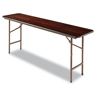 folding rectangular table, 72 by 18 by 29-inch