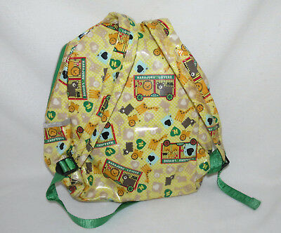 Harajuku Lovers Circus Animal Yellow Green Shiny Full Size Backpack School Bag