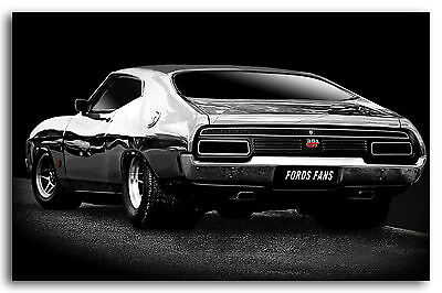 """Ford Falcon XA GT Coupe Car 72 - Canvas Print Poster  24""""X36"""""""