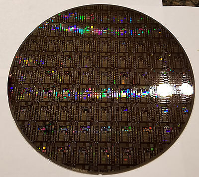 "Rare 8"" IC Microchip Silicon Pattern Wafer with Most Advanced Cobalt Technology"