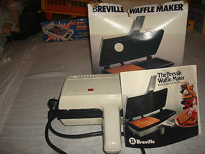 Vintage / Retro Breville Waffle Maker with Instruction / Recipe Book