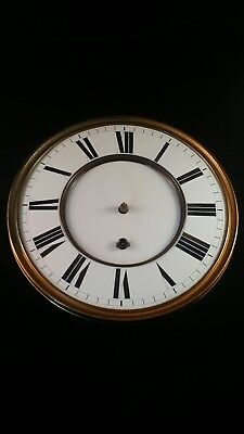 Antique Early Vienna Regulator clock movement single weight, biedermeier