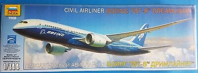 "Zvezda 1:144 Civil Airliner Boeing 787-8 ""Dreamliner"" Kit No. 7008"