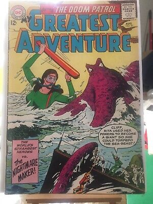 """My Greatest Adventure Number 81 """"Starring The Doom Patrol"""" 1st Edition, 8/63"""