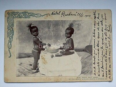 SOUTH AFRICA baby old postcard