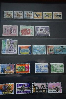 South Vietnam 1967-72 Collection of sets NHM butterflies postage dues NHM