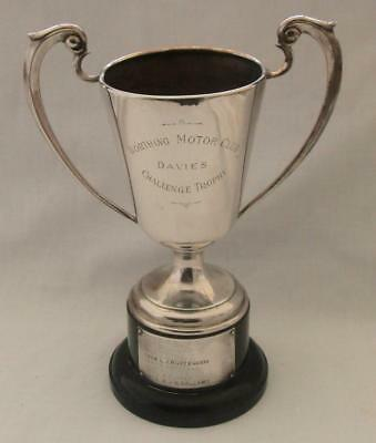 Worthing Motor Club Silver Plated Automobilia Trophy 9.75 Inch 1962-73 Winners