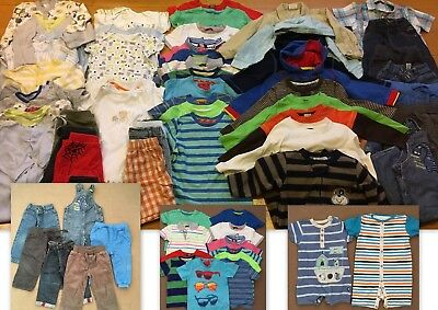 53 Items Large Bundle of Boys Clothes for 12 - 18 Months Boy