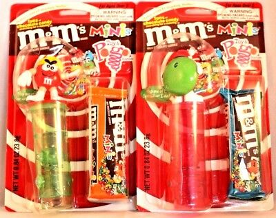 2 M&M'S Toy Pogo Dispenser For M&M Minis Winter Fun 2001 new in package