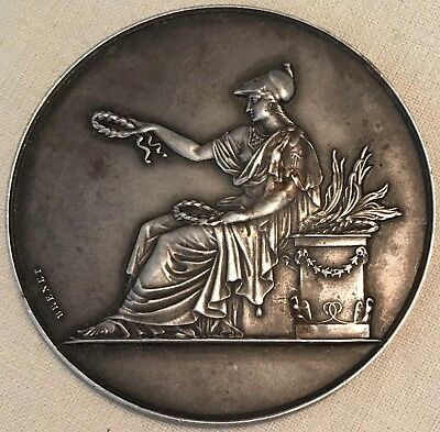 France. Lille Chambre des Notares silver Award Medal, 1937 by Brenet