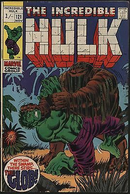 Incredible Hulk #121 Vs The Glob! Glossy Cover White Pages Affordable Mid Grade
