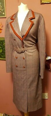 Vintage womens 70s/80s 'Paul Mausner' button front checked dress