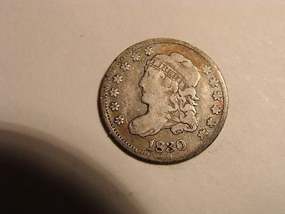 1830 Capped Bust Silver Half Dime F+/Fine+ -Nice Coin!!--FREE Ship--MUST SEE!!!