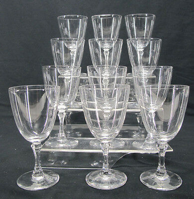 "Lot 12 Lenox Romance Pattern Crystal Stemware Wine Glass Stems 5 7/8"" Tall yqz"