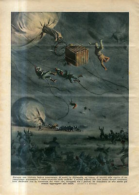 1935 Violent storm on the eve of Hot-Air Balloon Championship in Germany Print