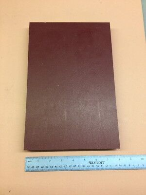 """HDPE MACHINABLE PLASTIC SHEET 15//16/"""" X 8"""" X 2-3//4/"""" RED TEXTURED BOTH SIDES"""