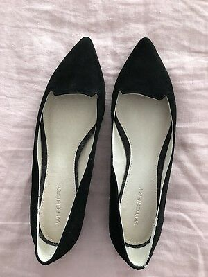 Witchery Black Suede 38 New Flats